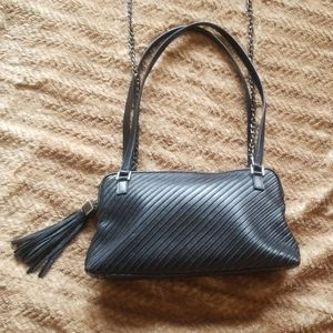 St.John knits Black  Italian leather purse